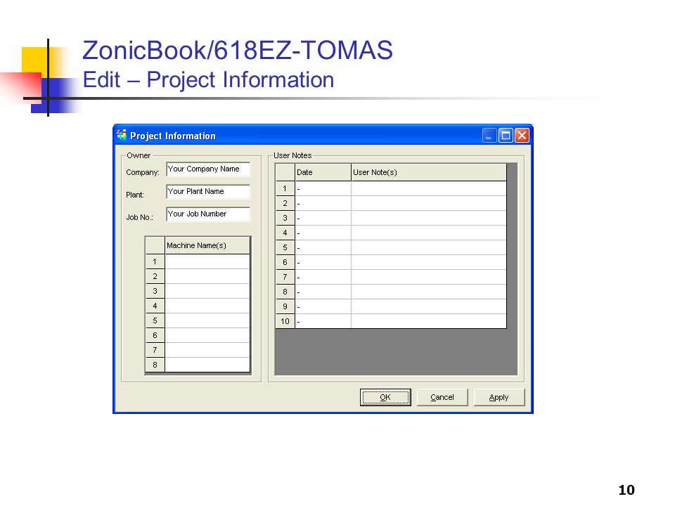 ZonicBook/618EZ-TOMAS Edit – Project Information