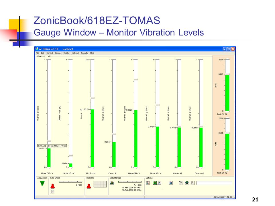 ZonicBook/618EZ-TOMAS Gauge Window – Monitor Vibration Levels