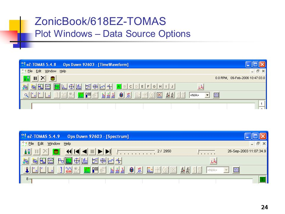 ZonicBook/618EZ-TOMAS Plot Windows – Data Source Options