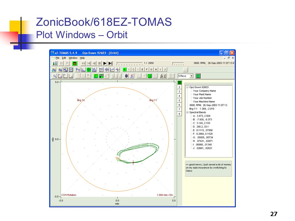ZonicBook/618EZ-TOMAS Plot Windows – Orbit
