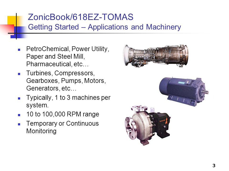 ZonicBook/618EZ-TOMAS Getting Started – Applications and Machinery