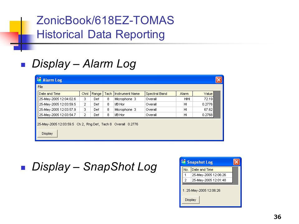 ZonicBook/618EZ-TOMAS Historical Data Reporting