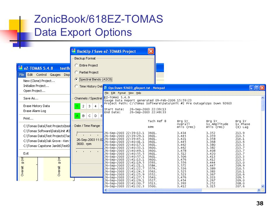 ZonicBook/618EZ-TOMAS Data Export Options