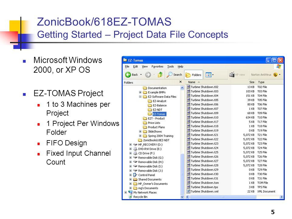 ZonicBook/618EZ-TOMAS Getting Started – Project Data File Concepts
