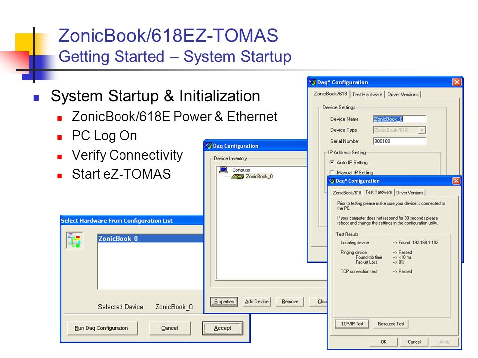 ZonicBook/618EZ-TOMAS Getting Started – System Startup