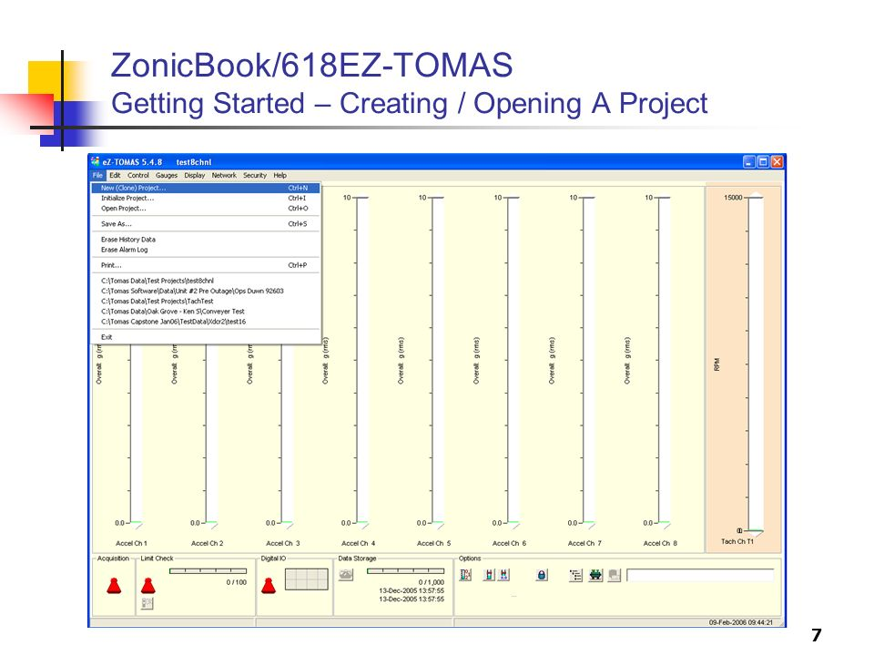 ZonicBook/618EZ-TOMAS Getting Started – Creating / Opening A Project