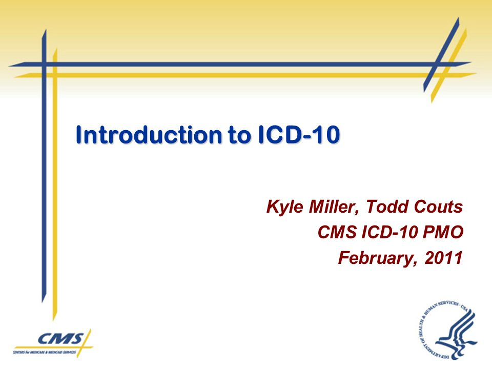 Kyle Miller, Todd Couts CMS ICD-10 PMO February, 2011
