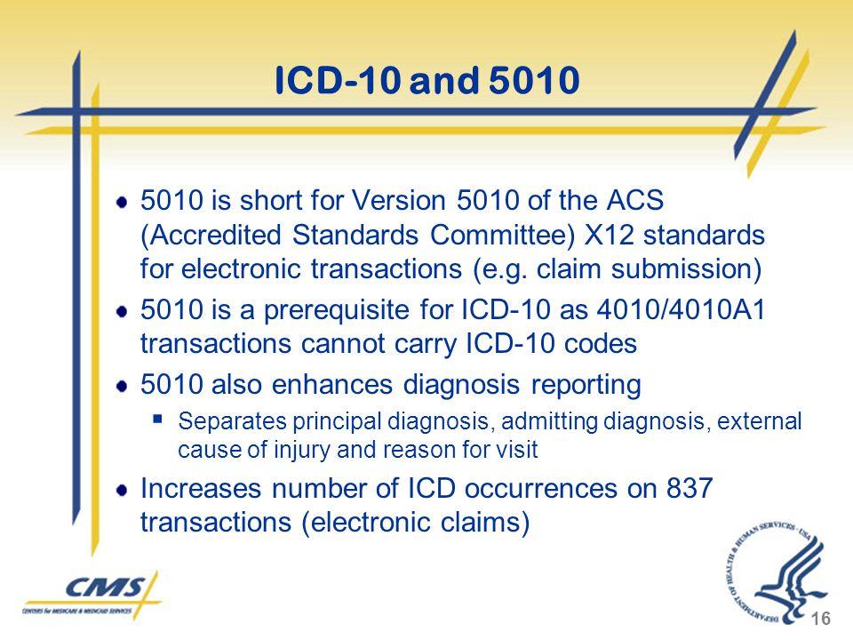 ICD-10 and 5010
