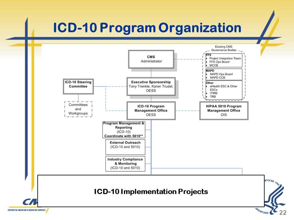 ICD-10 Program Organization