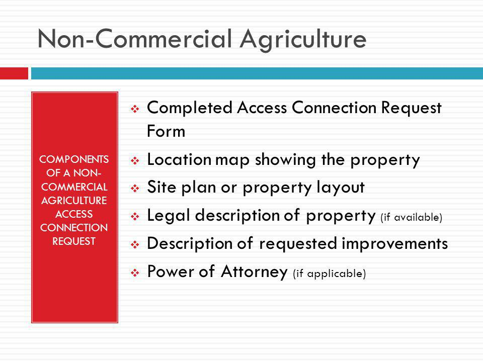 Non-Commercial Agriculture