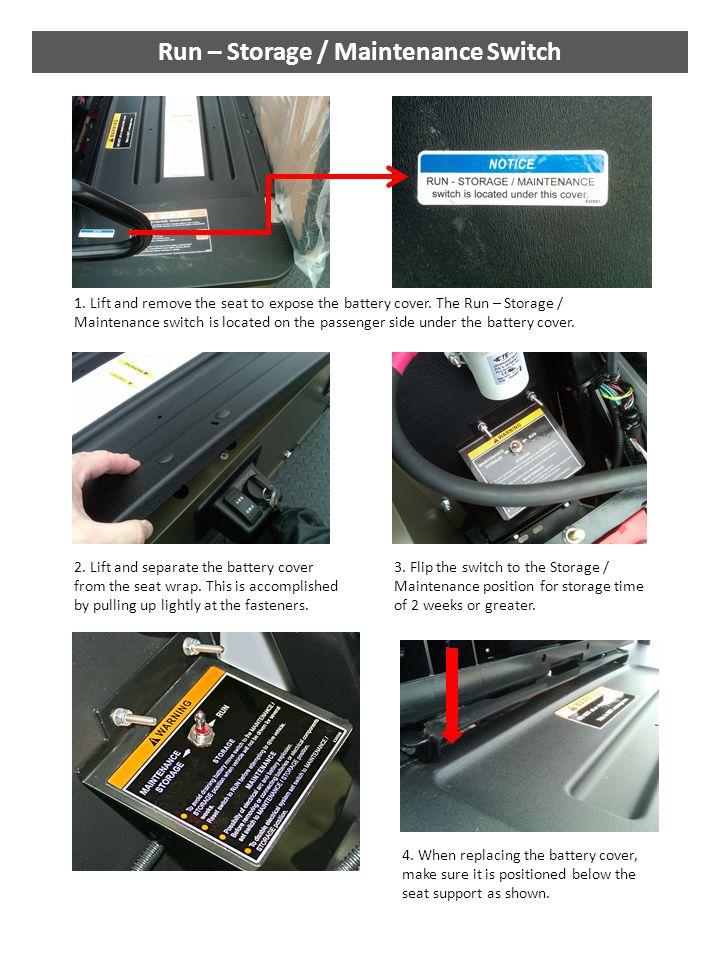 Run – Storage / Maintenance Switch