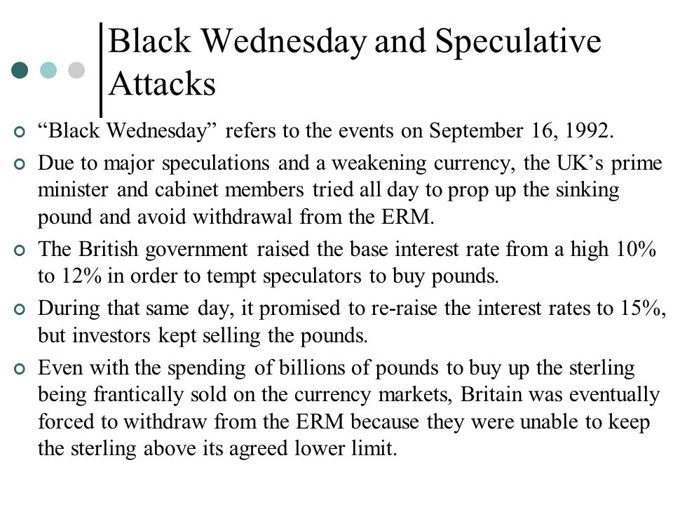 Black Wednesday and Speculative Attacks
