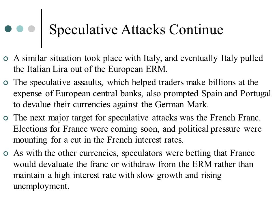 Speculative Attacks Continue