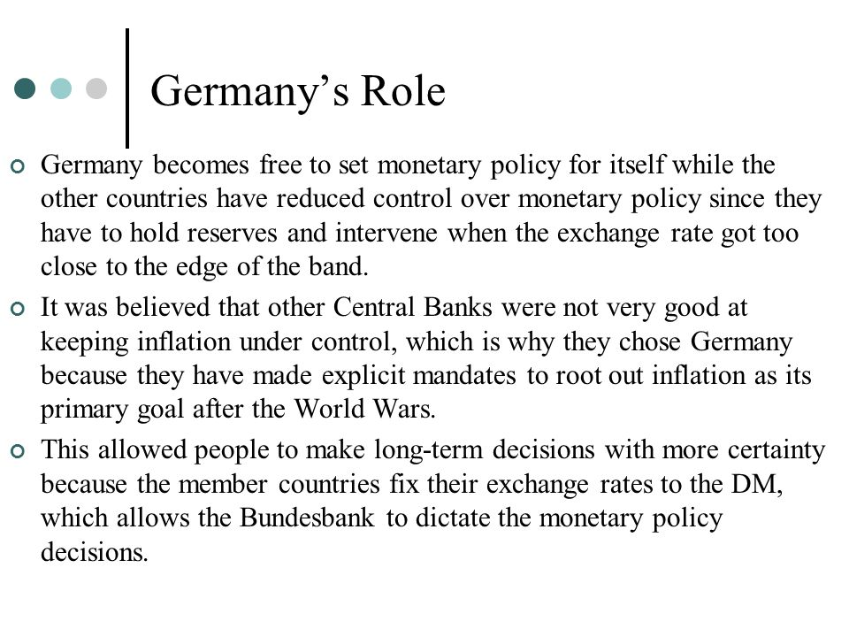 Germany's Role