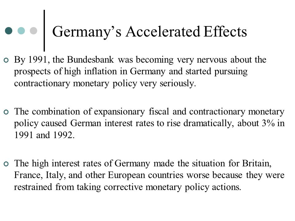 Germany's Accelerated Effects