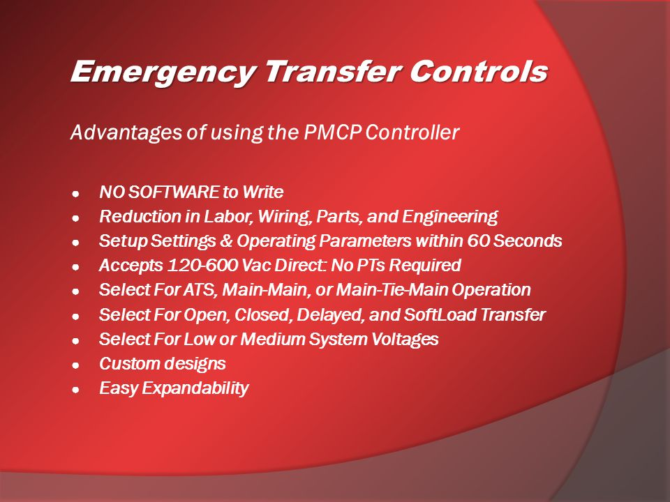 Advantages of using the PMCP Controller