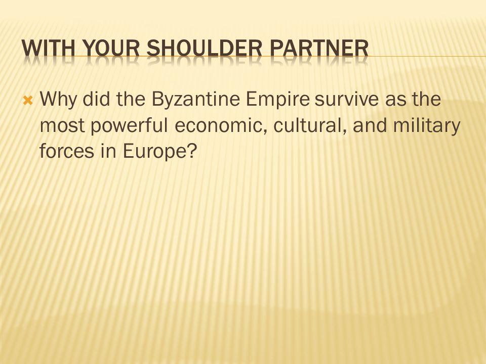 With your shoulder partner