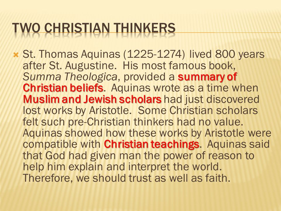 Two Christian Thinkers