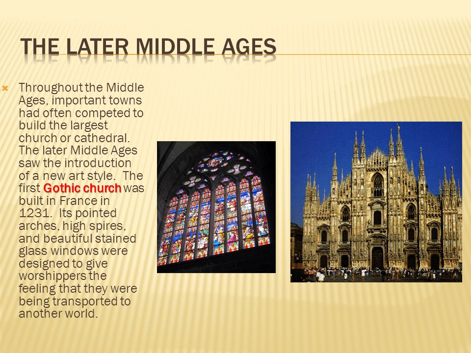 The Later Middle Ages