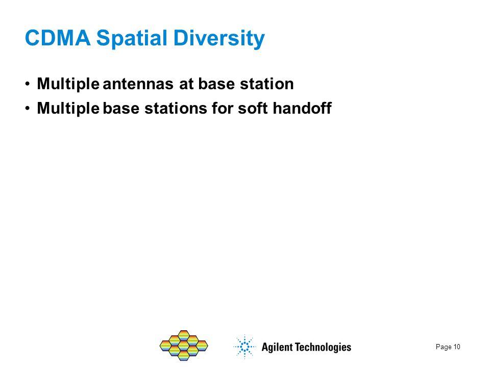 CDMA Spatial Diversity
