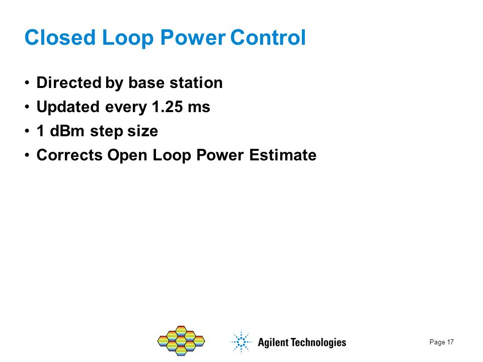 Closed Loop Power Control