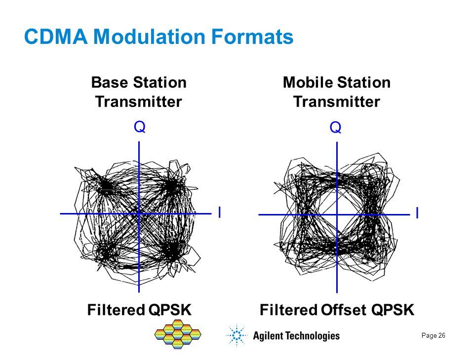 CDMA Modulation Formats