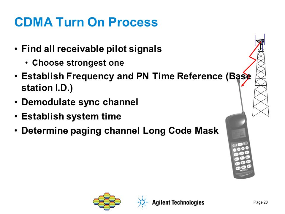 CDMA Turn On Process Find all receivable pilot signals