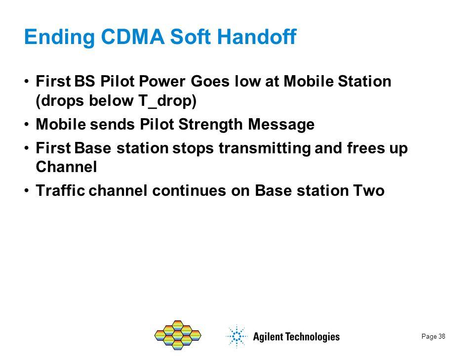 Ending CDMA Soft Handoff