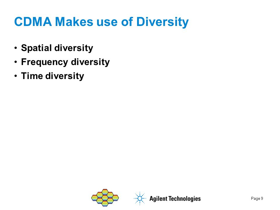 CDMA Makes use of Diversity