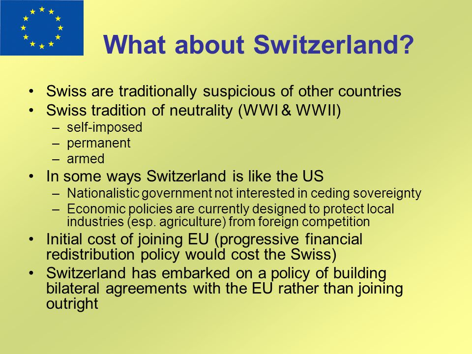 What about Switzerland