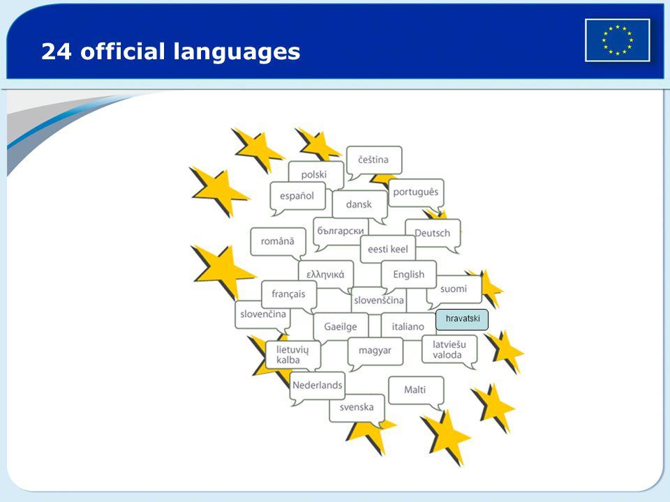 24 official languages hravatski