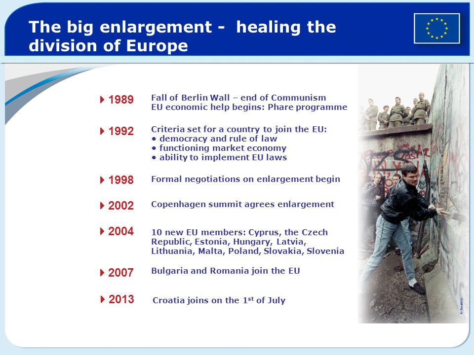 The big enlargement - healing the division of Europe