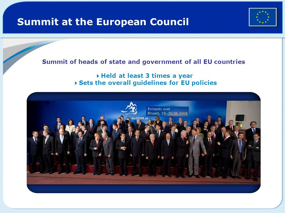 Summit at the European Council