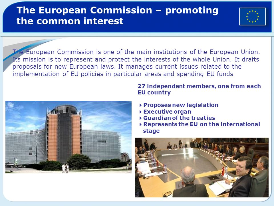 The European Commission – promoting the common interest