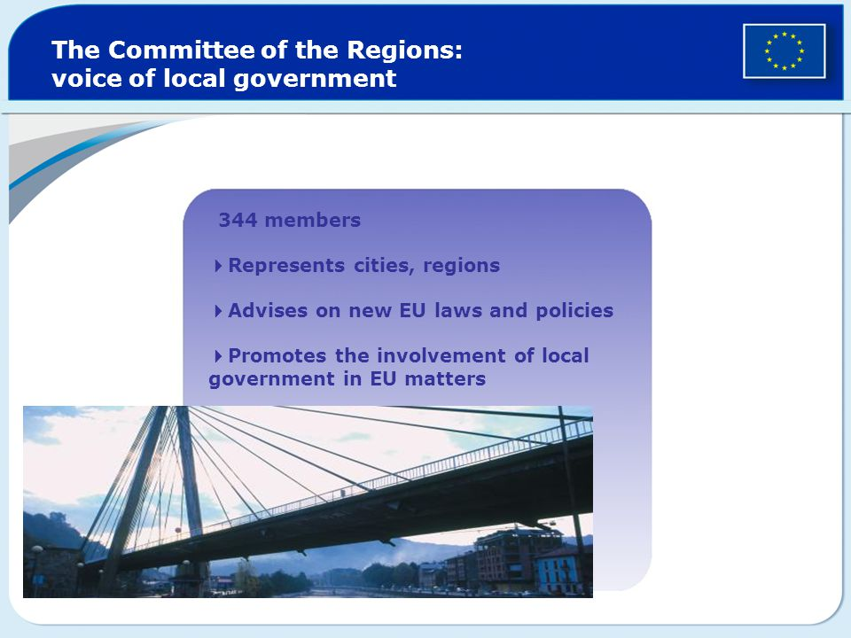 The Committee of the Regions: voice of local government