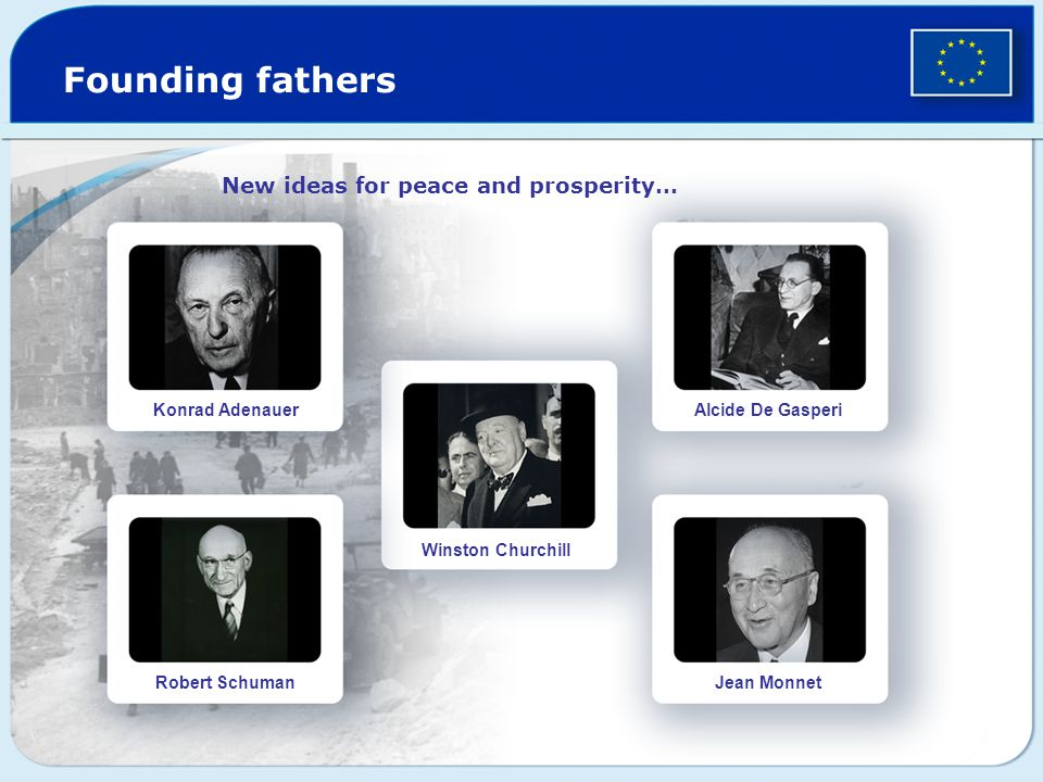 Founding fathers New ideas for peace and prosperity… Konrad Adenauer