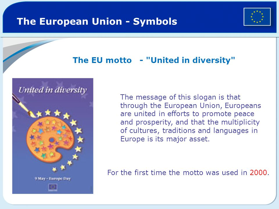 The European Union - Symbols