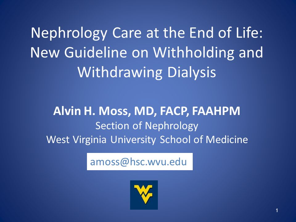 Alvin H. Moss, MD, FACP, FAAHPM
