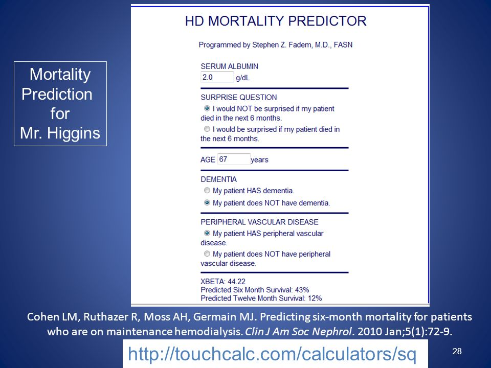 http://touchcalc.com/calculators/sq Mortality Prediction for