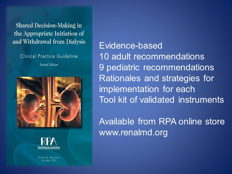Evidence-based 10 adult recommendations. 9 pediatric recommendations. Rationales and strategies for.