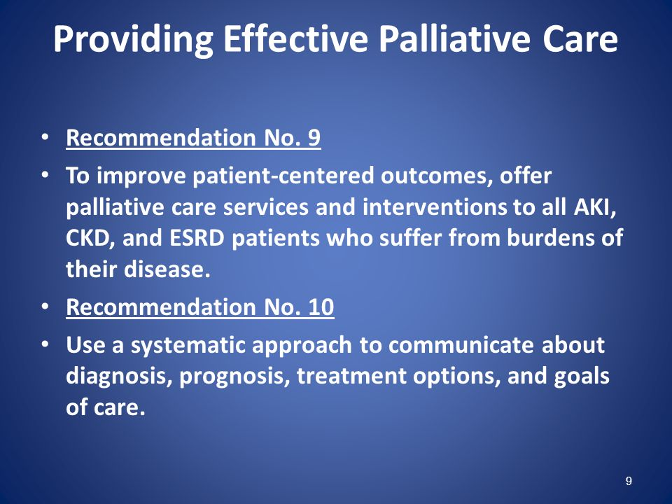 Providing Effective Palliative Care