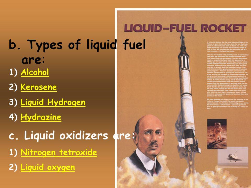b. Types of liquid fuel are: