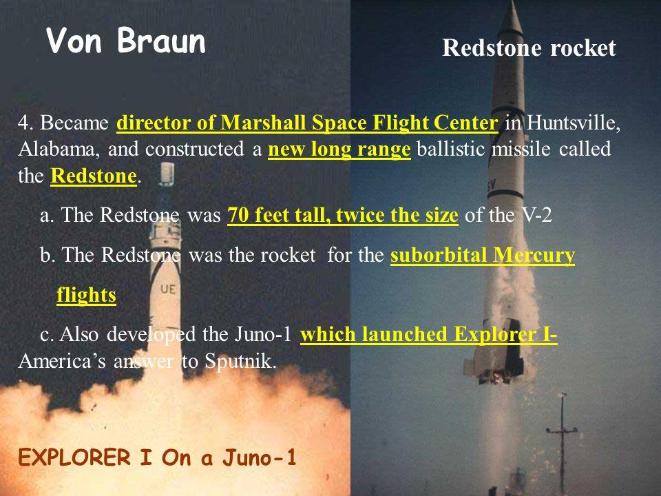 Von Braun Redstone rocket