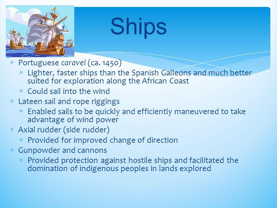 Ships Portuguese caravel (ca. 1450)