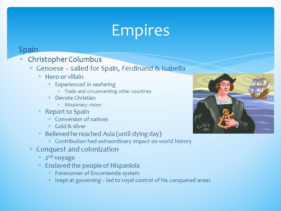 Empires Spain Christopher Columbus