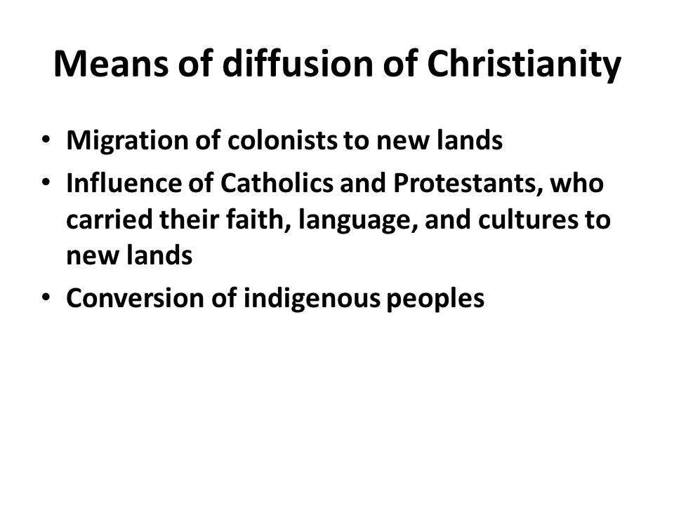 Means of diffusion of Christianity