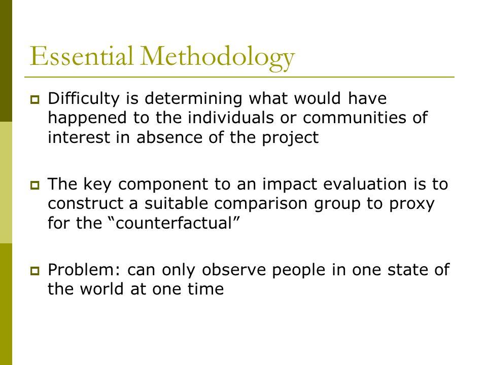 Essential Methodology