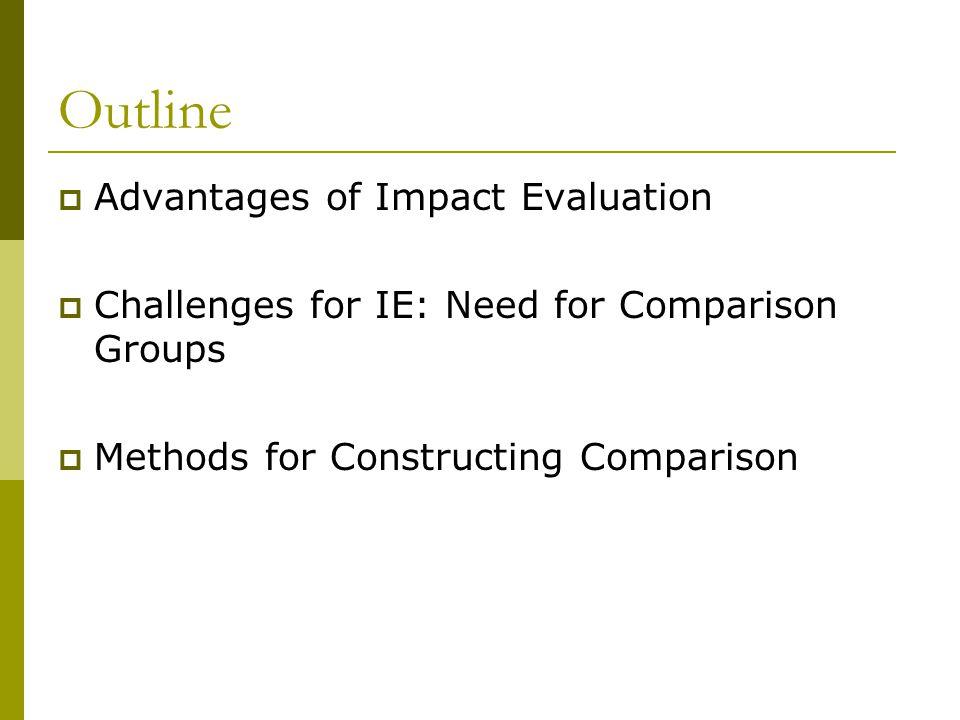 Outline Advantages of Impact Evaluation