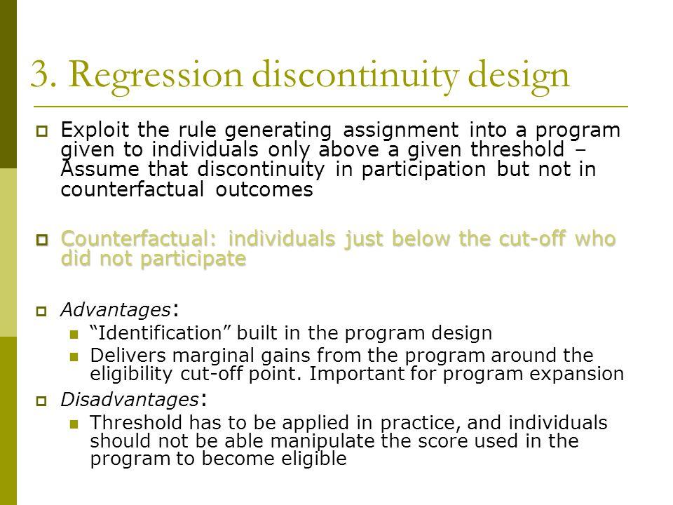 3. Regression discontinuity design