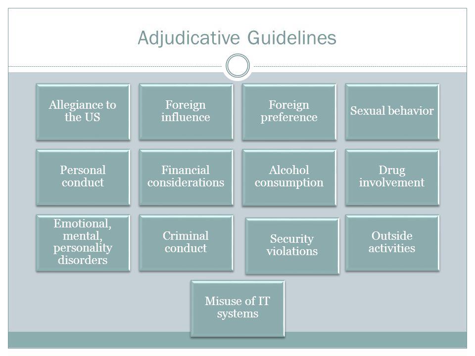 Adjudicative Guidelines